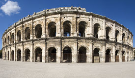 Exterior of the Arena of Nîmes, France Stock Image