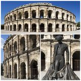 Exterior of the Arena of Nîmes, France Royalty Free Stock Photos
