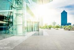 Exterior arquitetónico moderno Imagens de Stock Royalty Free