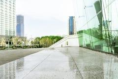 Exterior arquitetónico moderno foto de stock