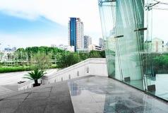 Exterior arquitetónico moderno foto de stock royalty free