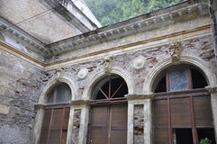 Exterior of the Austrian Imperial Bath in Baile Herculane,Romania. Ancient exteior of the Austrian Imperial Bath in Baile Herculane resort of Romania in 2014 Stock Photo