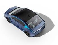 Exterior of autonomous electric car  on white background Stock Photo