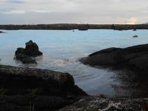 Exterior azul de la laguna Fotos de archivo