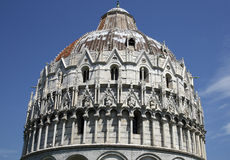 Exterior of the baptistry campo dei miracoli pisa Royalty Free Stock Image