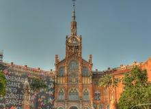 Exterior Barcelona de san Pau del hospital Imágenes de archivo libres de regalías