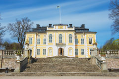 Exterior of the baroque Steninge Palace (Steninge Manor) outside of Stockholm, Sweden. Royalty Free Stock Photo