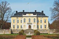 Exterior of the baroque Steninge Palace (Steninge Manor) outside of Stockholm, Sweden. Stock Images