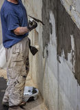 Exterior basement wall waterproofing 2 Royalty Free Stock Photography