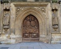 Exterior of Bath Abbey. And sky Royalty Free Stock Photography