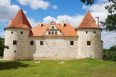 Exterior of the Bauska castle in Bauska, Latvia. Stock Photos