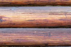 Exterior beams on wooden lodge Stock Images