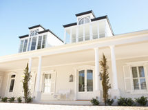 Exterior Of Beautiful Dream Home Stock Images