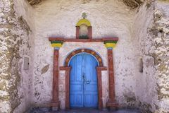 Exterior of the beautiful Parinacota village church, Putre, Chile. Royalty Free Stock Image