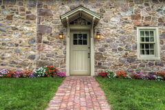 Exterior of a Beautiful Stone Cottage Stock Photography