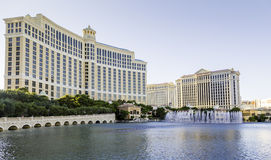 Exterior of Bellagio hotel. Bellagio is a luxury hotel and casino located on the Las Vegas Strip, USA Stock Photography