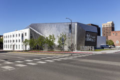 Exterior of Berkeley Art Museum and Pacific Film Archive. BERKELEY, CA - JUNE 18, 2016: Located in downtown Berkeley, BAMPFA art exhibits range from Asian Royalty Free Stock Images
