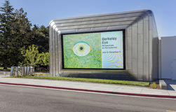 Exterior of Berkeley Art Museum and Pacific Film Archive. BERKELEY, CA - JUNE 18, 2016: Located in downtown Berkeley, BAMPFA art exhibits range from Asian Stock Images