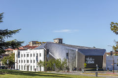 Exterior of Berkeley Art Museum and Pacific Film Archive. BERKELEY, CA - JUNE 18, 2016: Located in downtown Berkeley, BAMPFA art exhibits range from Asian Stock Photography