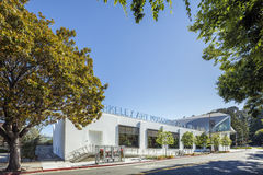 Exterior of Berkeley Art Museum and Pacific Film Archive. BERKELEY, CA - JUNE 18, 2016: Located in downtown Berkeley, BAMPFA art exhibits range from Asian Royalty Free Stock Photo