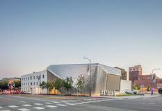 Exterior of Berkeley Art Museum and Pacific Film Archive. BERKELEY, CA - JUNE 18, 2016: Located in downtown Berkeley, BAMPFA art exhibits range from Asian Stock Photos
