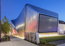 Exterior of Berkeley Art Museum and Pacific Film Archive. BERKELEY, CA - JUNE 18, 2016: Located in downtown Berkeley, BAMPFA art exhibits range from Asian Stock Image
