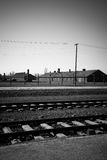 Exterior of Birkenau Concentration Camp, Poland Stock Images