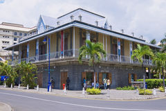 Exterior of the Blue Penny museum building in Port Louis, Mauritius. Stock Photo