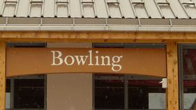 The exterior of a bowling alley Stock Photography