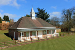 Bowling green and pavilion Royalty Free Stock Images