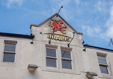 Exterior of Brains brewery Royalty Free Stock Photos