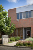 Exterior of brick office building Royalty Free Stock Images