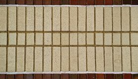 Exterior Brick walkway for background, texture or design element. Multicolored brick pattern from urban pathway Stock Photo