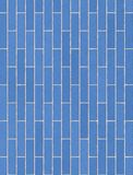 Exterior brick wall in blue, texture, background Stock Images
