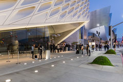 Exterior of The Broad Contemporary Art Museum. LOS ANGELES, CALIFORNIA - JULY 5, 2016: The Broad, a contemporary art museum in Los Angeles, California, home to Royalty Free Stock Images