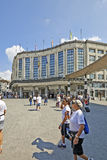 Exterior of Brussels central main railway station. BRUSSELS, BELGIUM - JULY 27, 2014: Exterior of Brussels central main railway station on july 27, 2014 in Stock Photo