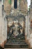 Exterior of the Buddha statue at Si Satchanalai in Sukhothai historical Park, Sukhothai, Thailand. Royalty Free Stock Photo