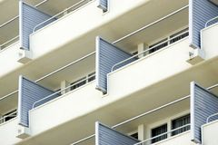 Exterior building balconies Royalty Free Stock Images