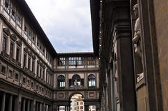 Exterior building detail of gallery Uffizi, Florence, Tuscany Stock Photos