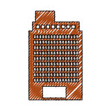 Exterior building drawing icon Royalty Free Stock Image