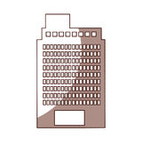 Exterior building drawing icon Stock Photo