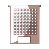 Exterior building drawing icon Stock Images