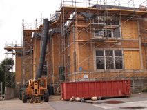 Exterior building renovation stock photo