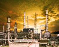 Exterior building structure of oil refinery plant in heavy petro Stock Images