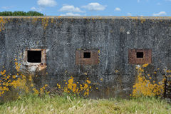 Exterior bunker windows Royalty Free Stock Photography