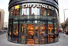 The exterior of caffe nero. Warsaw,Poland. 15 September 2016. The exterior of caffe nero on September 2016 Royalty Free Stock Photography