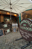 Exterior of a Calvados Cider store Royalty Free Stock Images