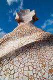 Exterior of the Casa Mila -La Pedrera by Antonio Gaudi. Stock Photo
