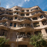 Exterior of the Casa Mila. La Pedrera by Antonio Gaudi. Royalty Free Stock Photo