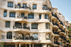 Exterior of the Casa Mila La Pedrera , Barcelona, Spain. Royalty Free Stock Photo